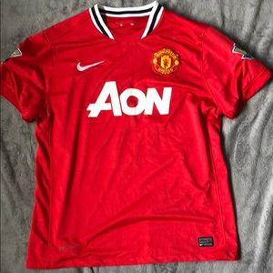 Men's L Aon Manchester Number 10 Rooney Jersey